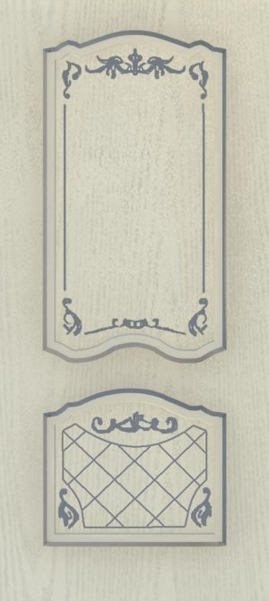 Дверь межкомнатная  с патиной, Тип Элегия, 90, глухая, ясень серый/серебро Самострой stroi-base.ru