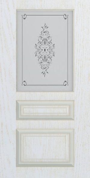 Дверь межкомнатная Прованс-2, Cтекло c художественной печатью, Золотой ясень Самострой stroi-base.ru