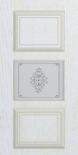 Дверь межкомнатная Прованс-4, Cтекло c художественной печатью, Золотой ясень Самострой stroi-base.ru