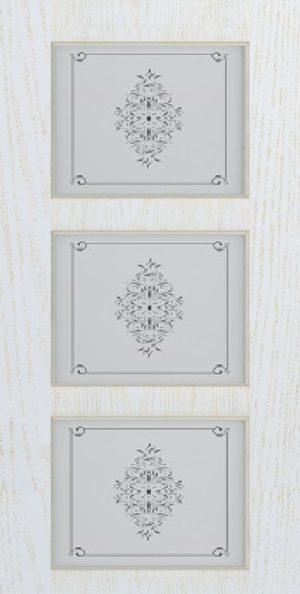 Дверь межкомнатная Прованс-5, Cтекло c художественной печатью, Золотой ясень Самострой stroi-base.ru