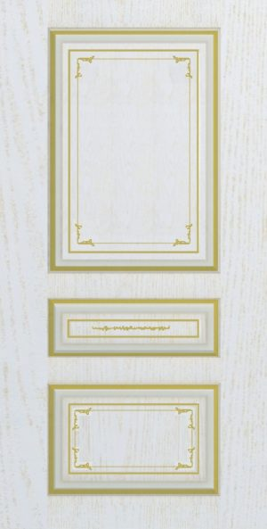 Дверь межкомнатная  с патиной, Тип Соната, 60, глухая, ясень золотой/золото Самострой stroi-base.ru